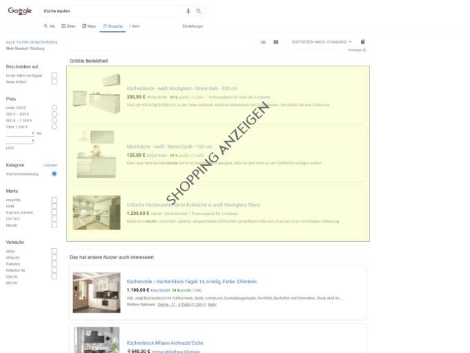 Google Shopping Anzeigen Beispiel