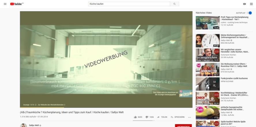 Videowerbung auf YouTube schalten