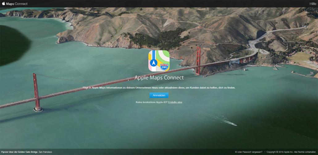 Unternehmen bei Apple Maps eintragen