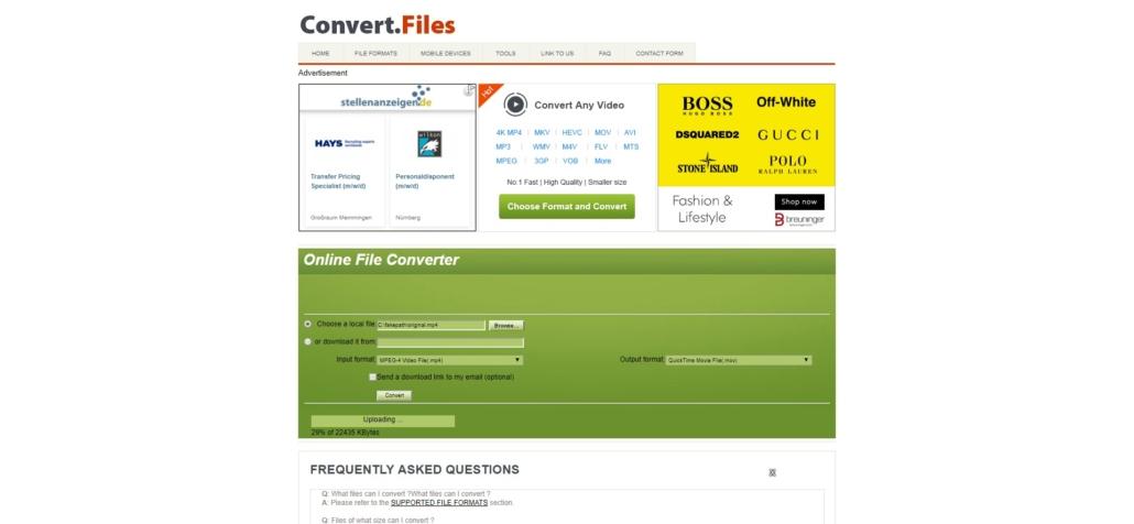 convertfiles.com Video Converter