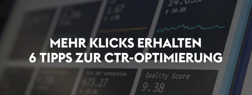 CTR optimieren in Google Ads