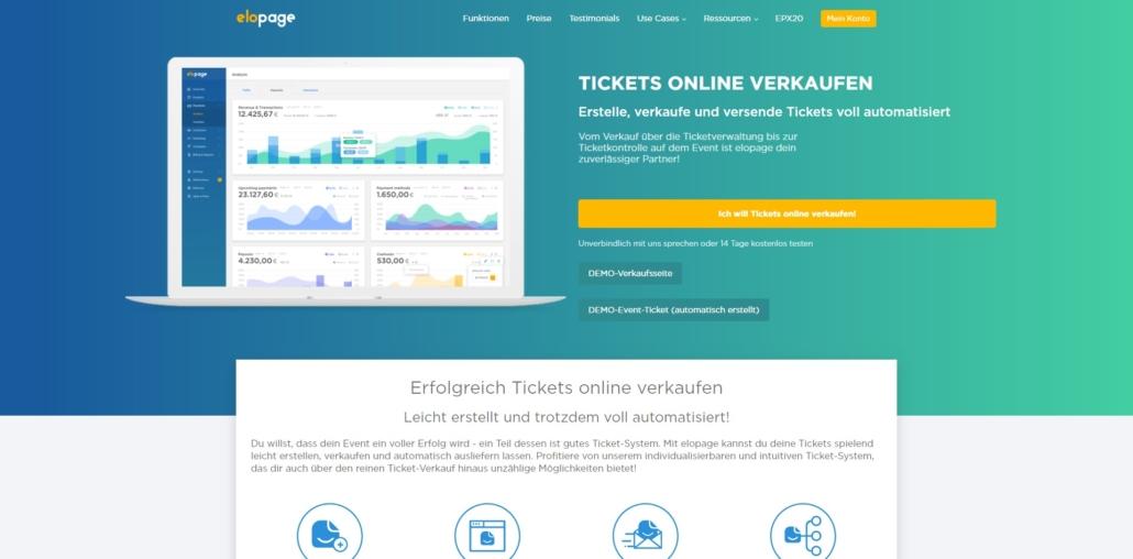elopage Tickets verkaufen