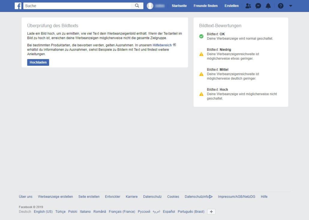 Textoverlay Tool von Facebook