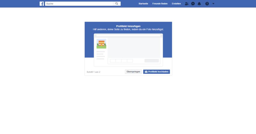 Facebook Seite erstellen Schritt 3