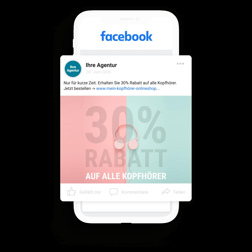 Facebook Werbung schalten über eigene Agentur-Facebookseite