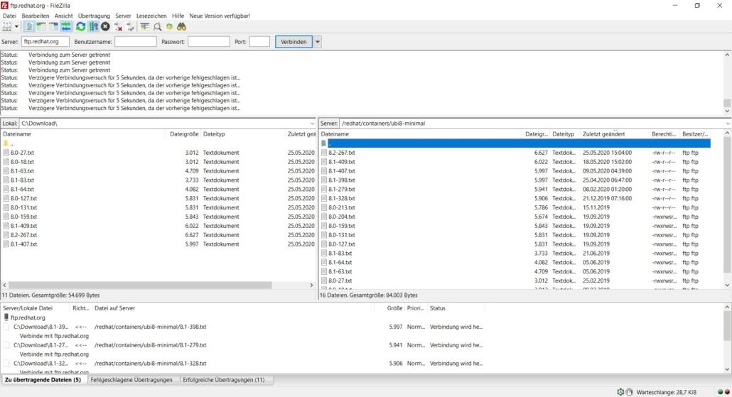 FileZilla FTP Programm Download