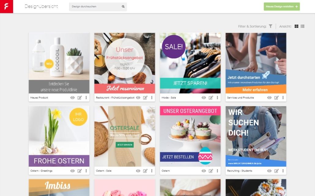 Werbebanner im Online-Designer selbst erstellen