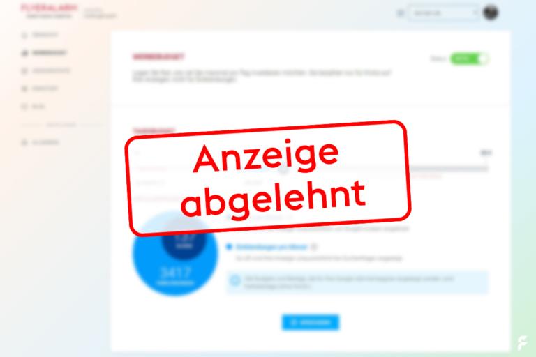 Google Ads werden abgelehnt: Das können Sie tun