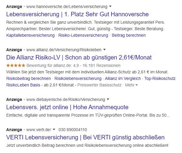 Bewertungen in Google Ads anzeigen lassen