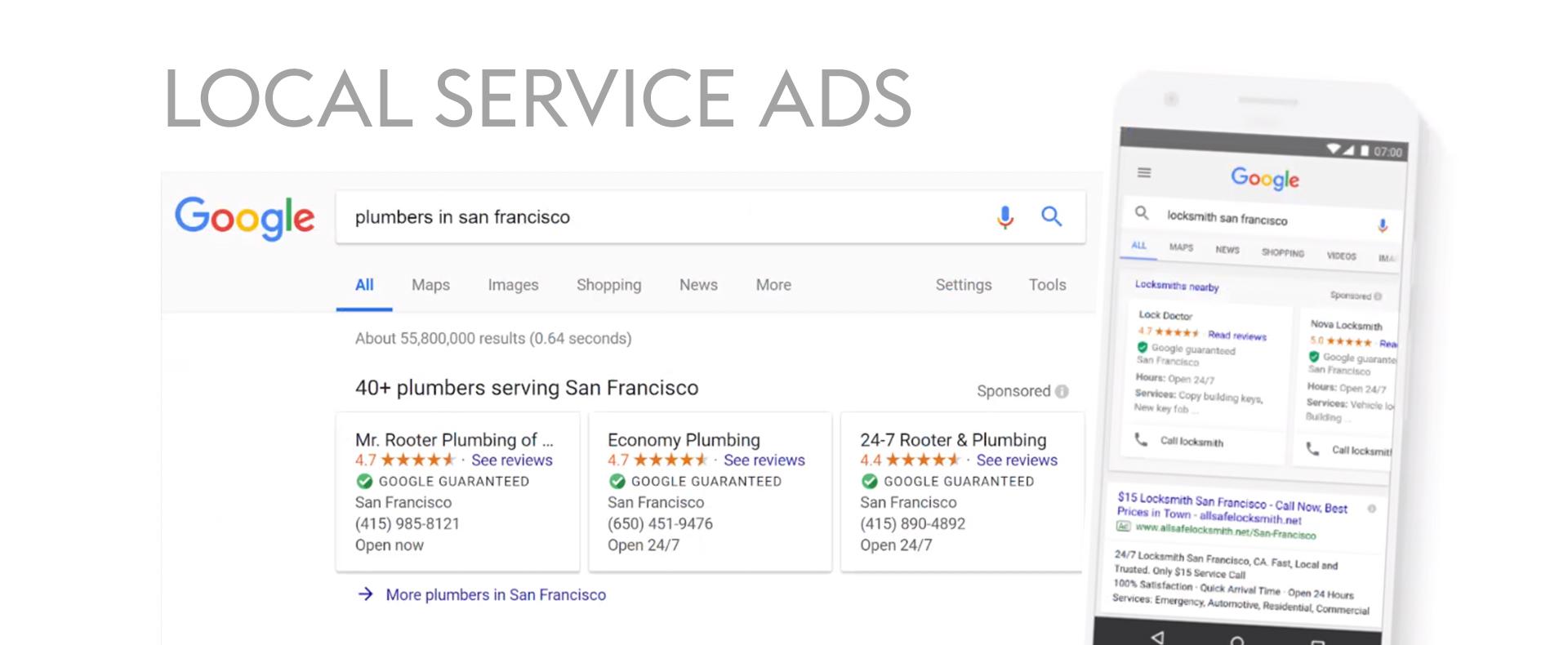 Google Ads Local Service Ads Beispiel