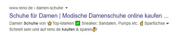 Google Ads Symbole und Sonderzeichen