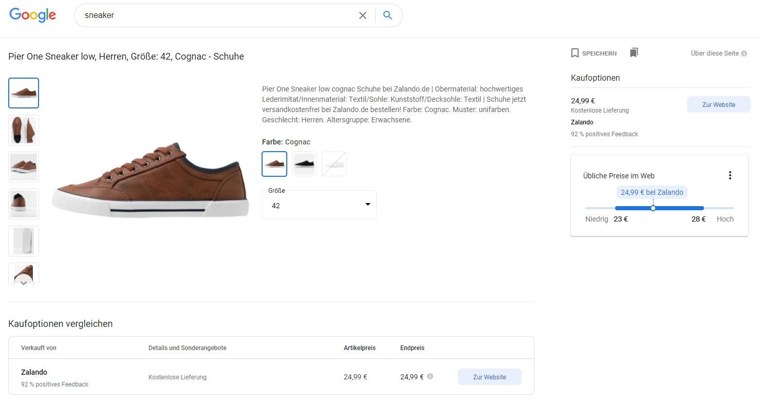 Google Shopping Vergleich