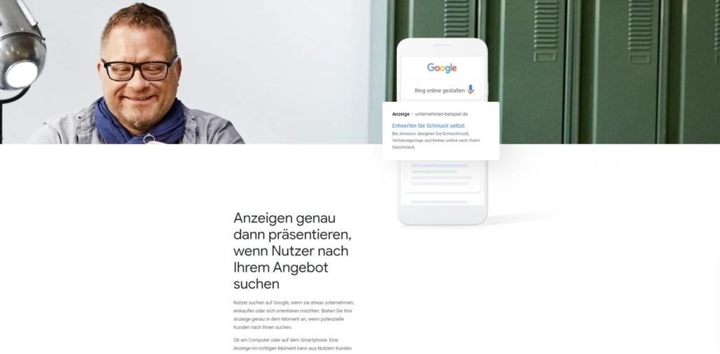 Google Werbung buchen mit Ads