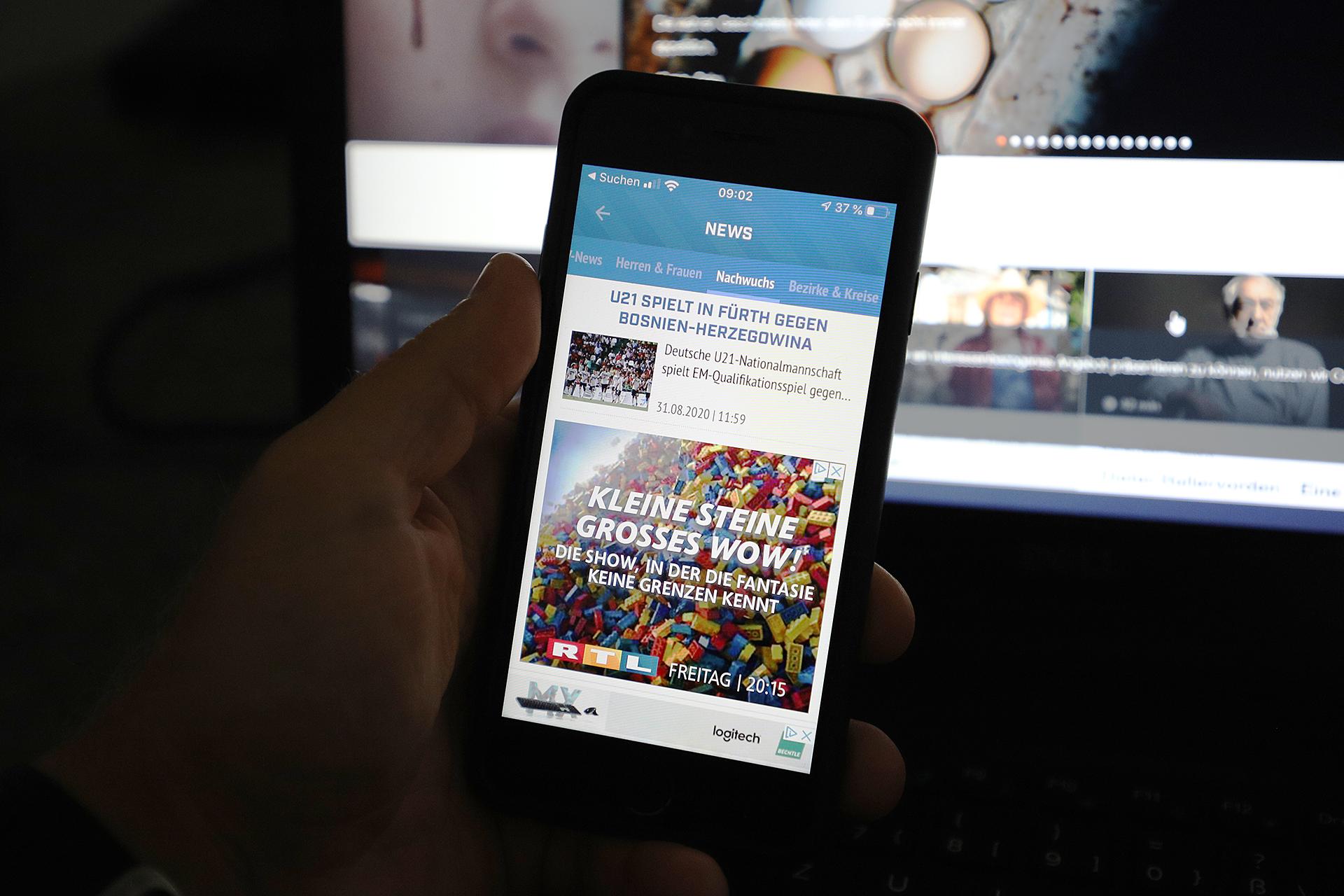 In-App-Werbung Beispiel