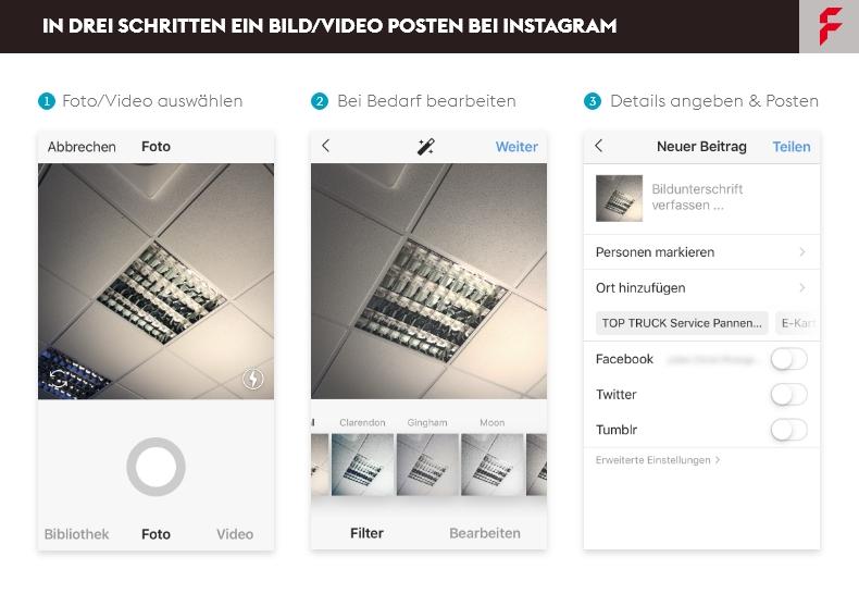 Beitrag auf Instagram erstellen