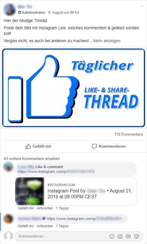 Instagram Engagement Gruppen Pods