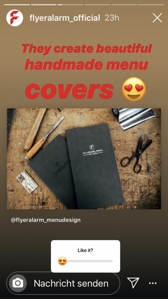 Instagram Story Beispiel