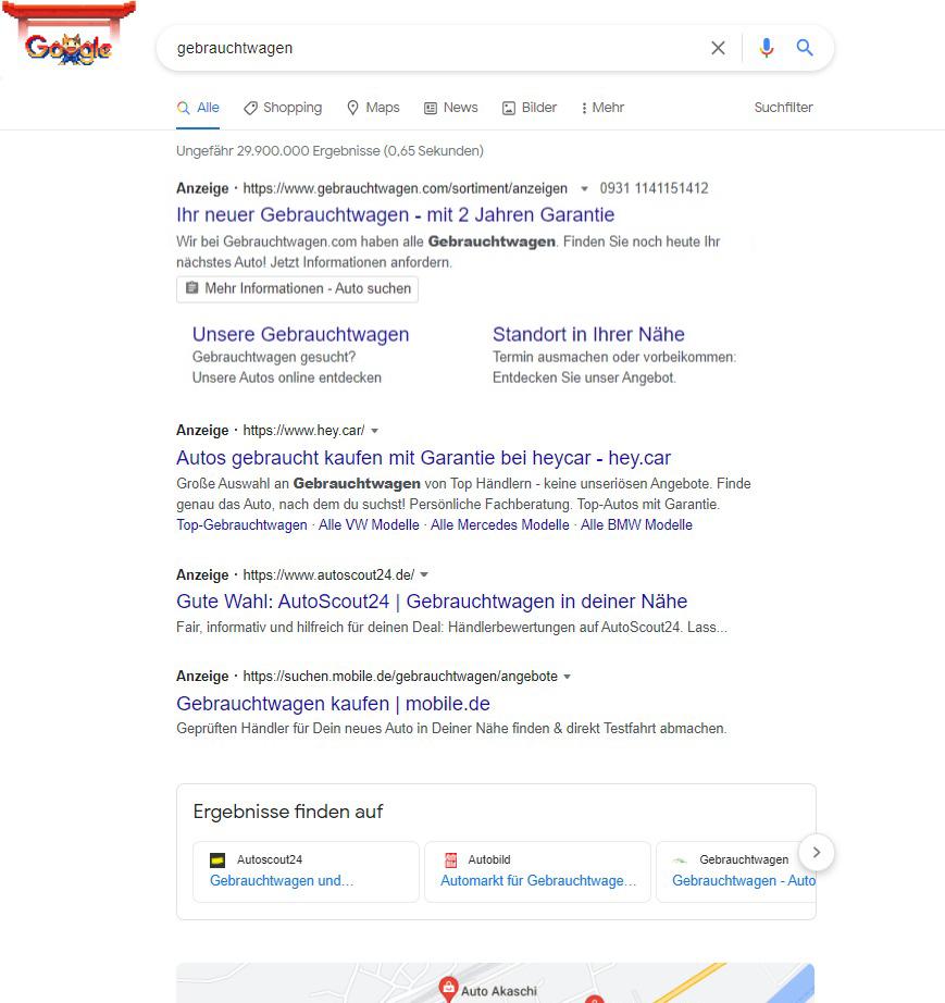 Lead-Formularerweiterung in der Google Suche
