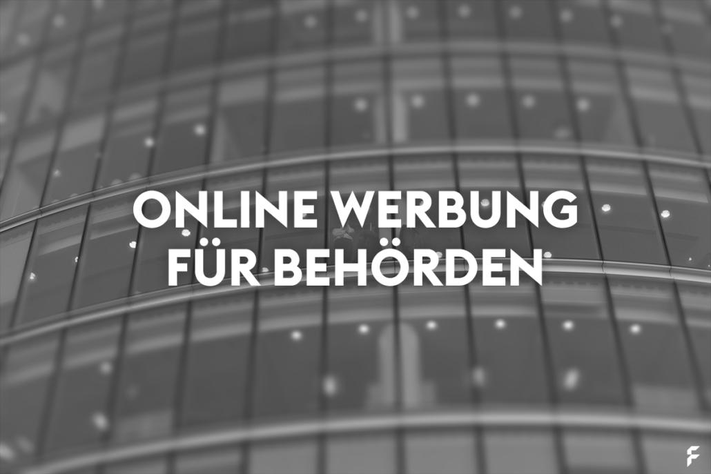 Online Werbung für Behörden