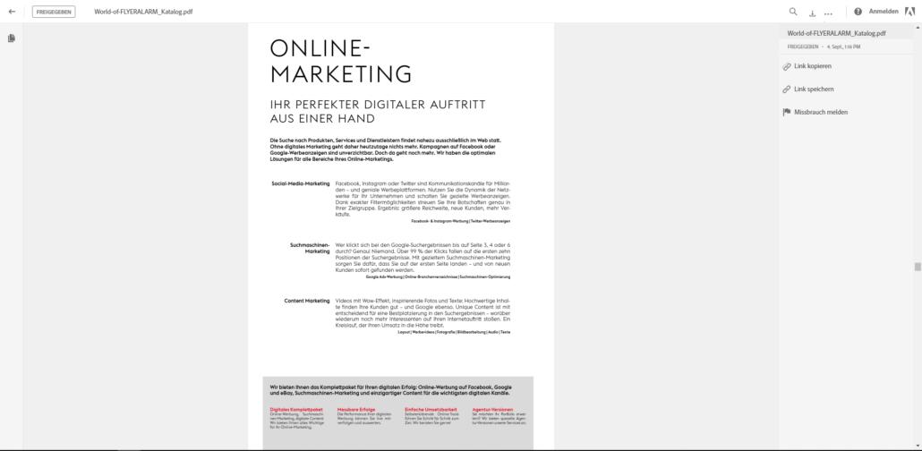 Große PDF-Dateien per E-Mail versenden mit der Adobe Document Cloud