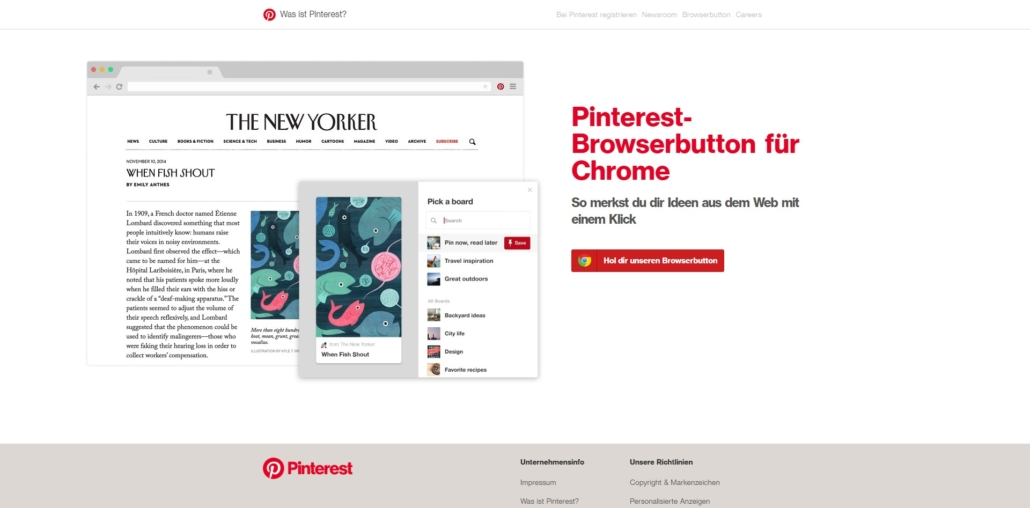Pinterest Browserbutton
