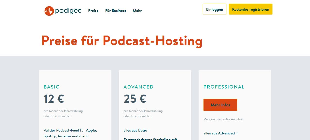 Podcast Hoster Podigee