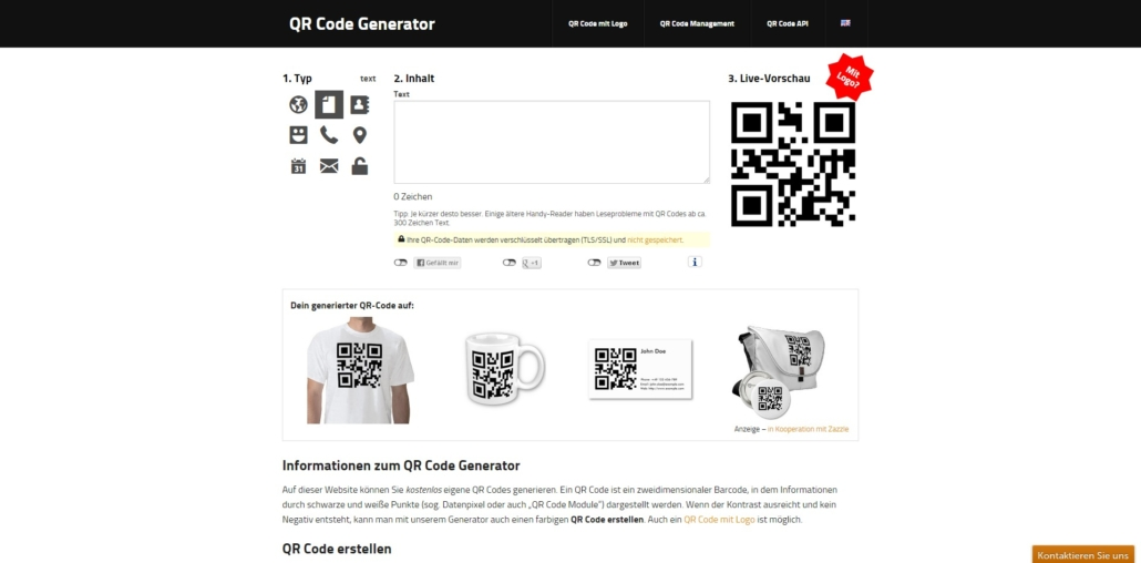 QR Codes mit GOQR.ME erstellen