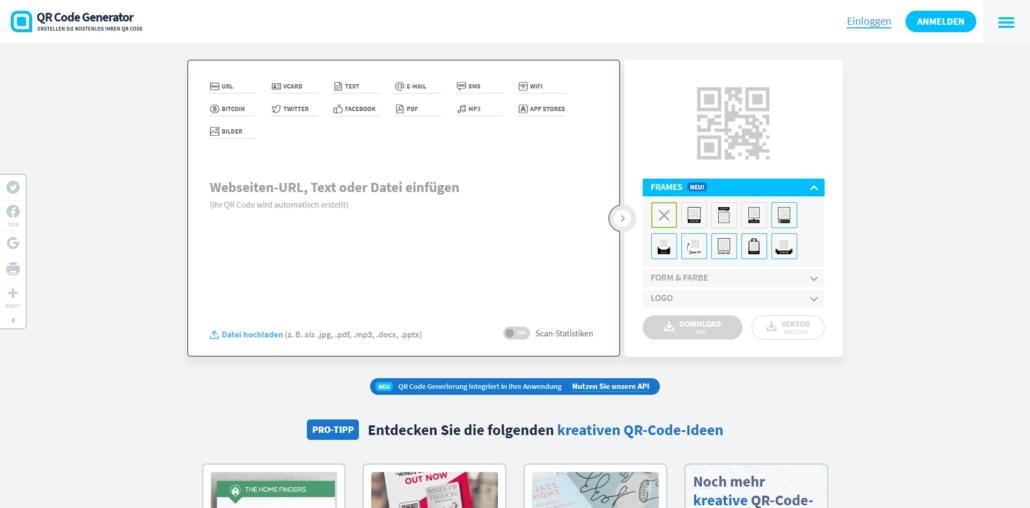 Kostenlose QR Codes erstellen