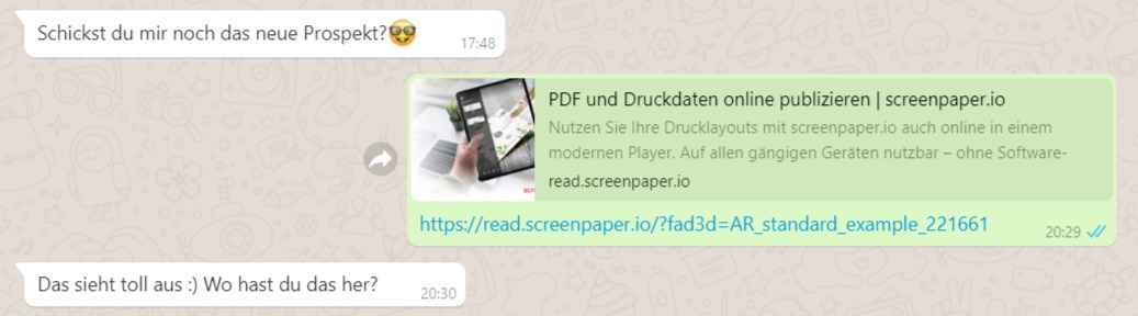 screenpaper in WhatsApp teilen
