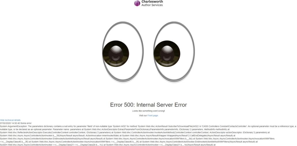 Server HTTP-Code 500