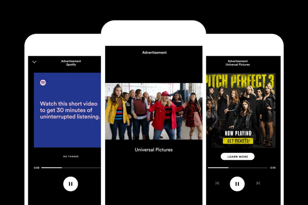 Sponsored Video Sessions bei Spotify