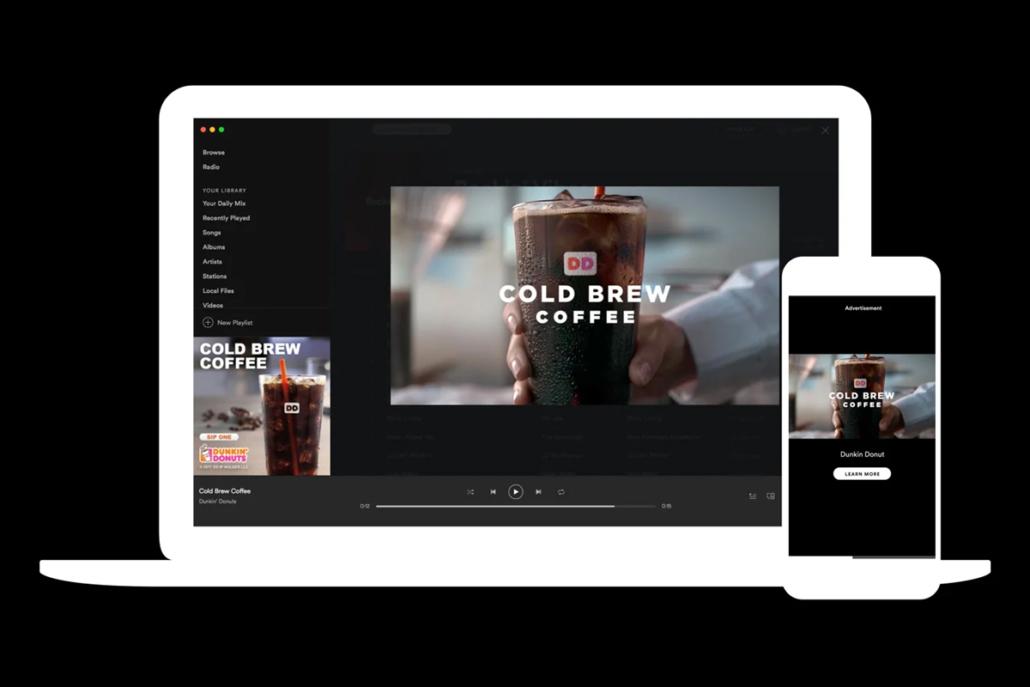 Spotify Video Takeover Anzeigen