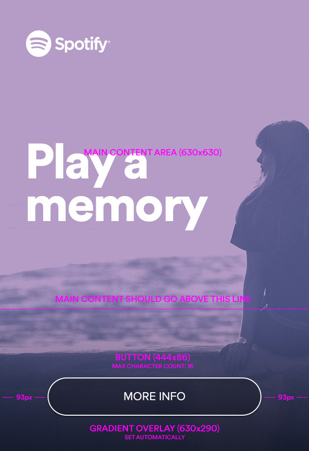 Spotify Mobile Ads Overlay Template