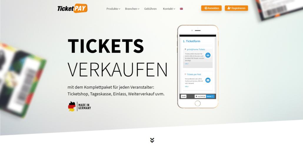 Tickets mit TicketPAY verkaufen