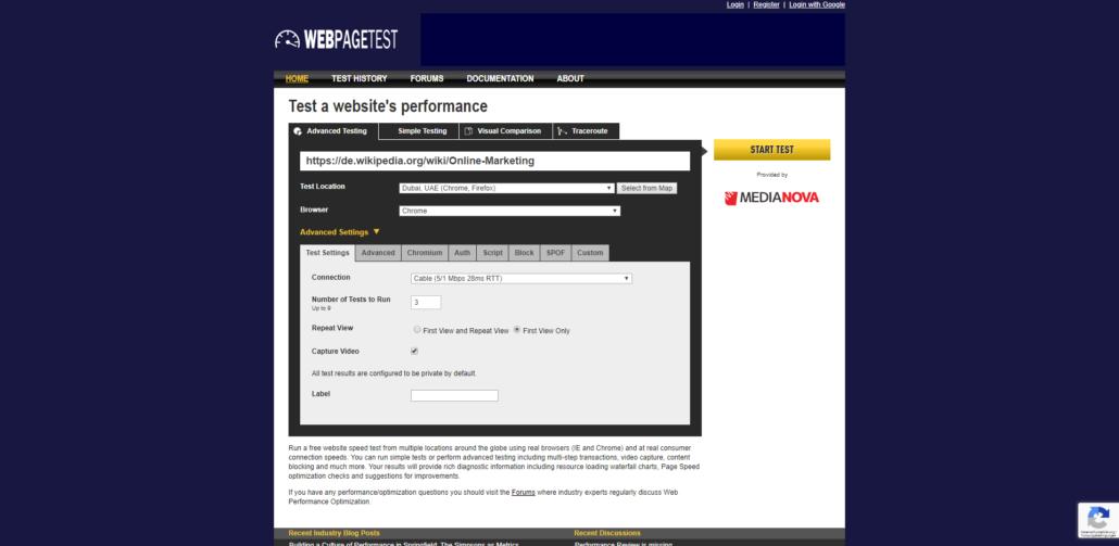 WebPageTest.org ist ein mächtiges Werkzeug zum Testen der Seitenladezeit