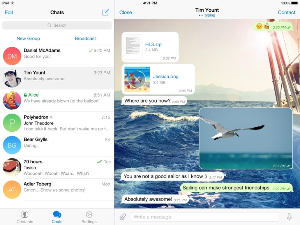 Telegram Messenger im App Store