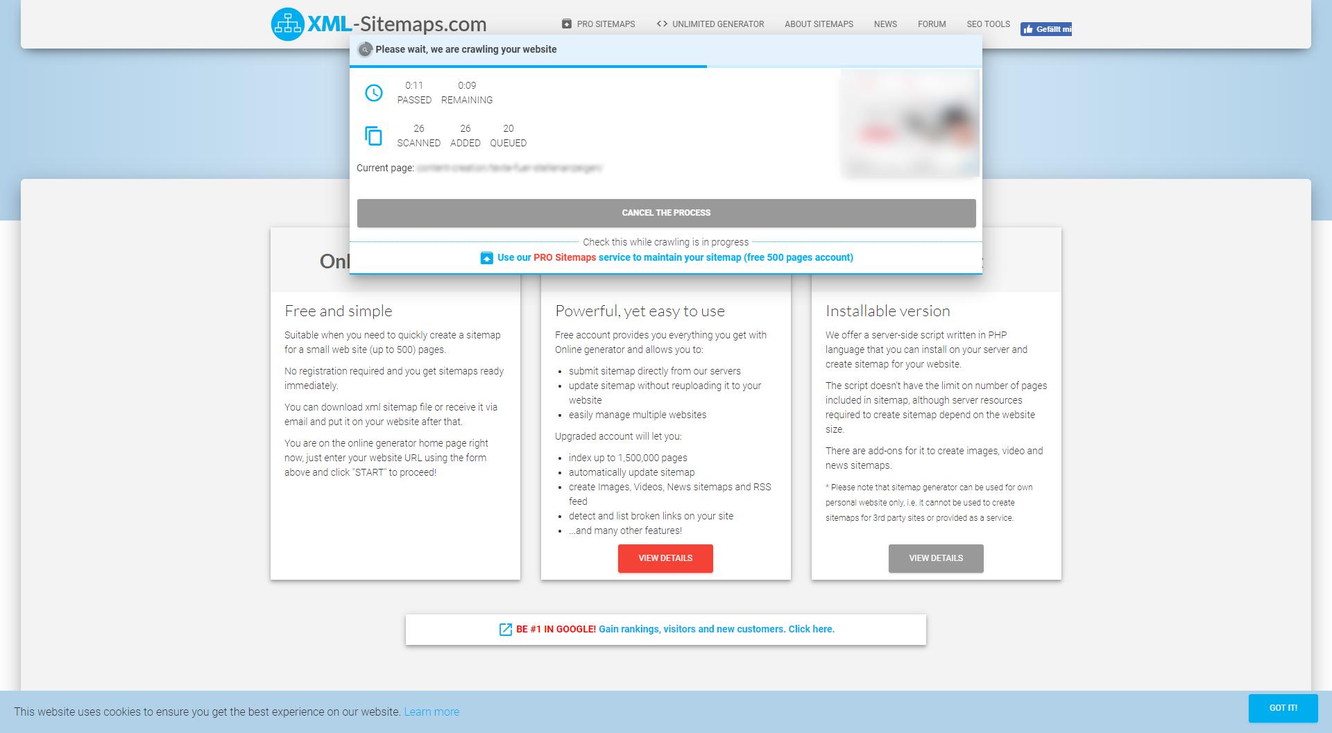 Sitemap Generator XML-Sitemaps