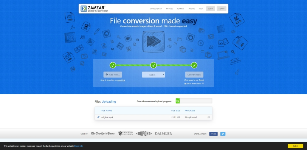 zamzar.com Online file conversion